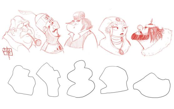Shape Challenge sketches 2011 by LuigiL
