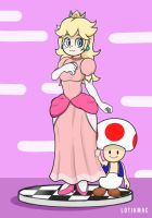 Peach and Toad by Lotikmac