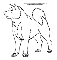 Canine LineArt #29 by DragonHeartLuver