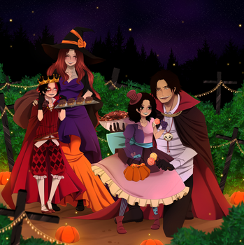 Portgas D  Family.Happy Halloween by HatoChan19