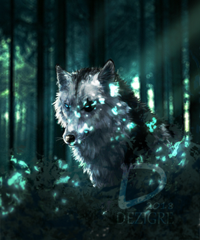 In the woods by Dezigre