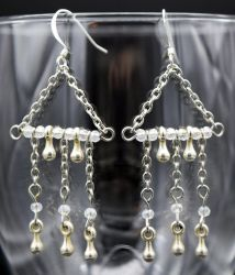 Earings: Silver drops by LissaMonster
