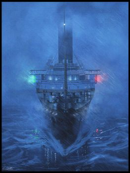 Storm on the Lusitania by Eliott-Chacoco