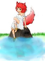 always fun to sit on a rock...I guess... by princepudding