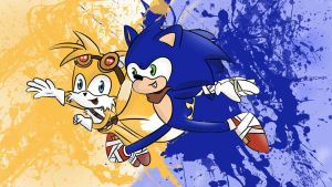Sonic and Tails Boom style by Eveningstar2000