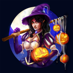 halloween witch by Tissia1229