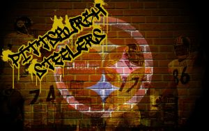 Steelers Graffiti Wallpaper by BuckHunter7