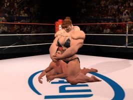 Mixed wrestling by aldebaran086