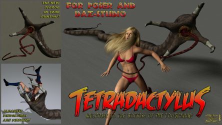 Tetradactylus for Poser and DS by ancestorsrelic