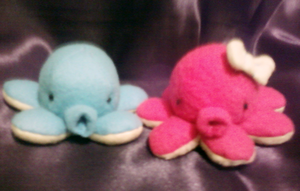 Boy and Girl Octopus Plushies by Rydiah
