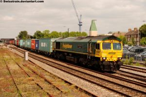 Freightliner 'Shed' 66592 by SwissTrain