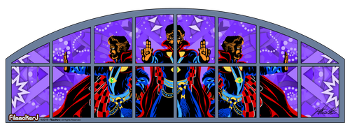 Doctor Strange - Movie Theater Window Mural DESIGN by FilmmakerJ