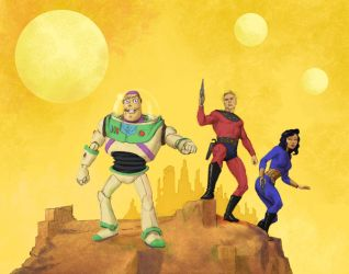 TLIID Buzz Lightyear and Flash Gordon team-up by Nick-Perks