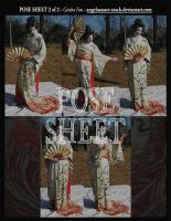 POSE SHEET 2 of 2: Geisha Fan by themuseslibrary