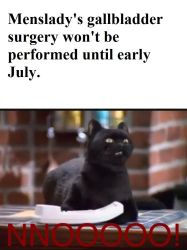 Salem shouts no at the schedule of my surgery by menslady125