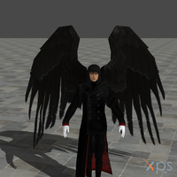 Azazel with wings!!! by MindForcet