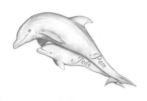 Dolphins tattoo by bryssis