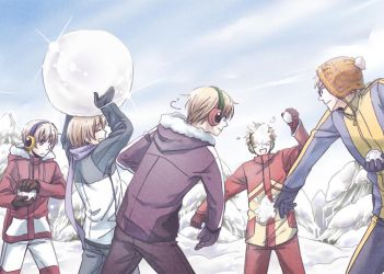 snow war by maconeko