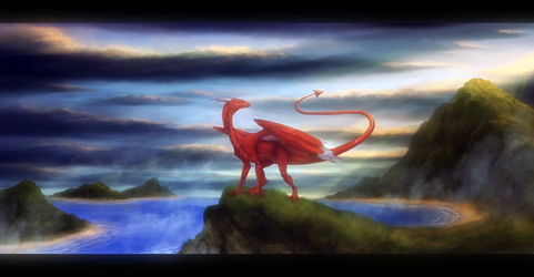 Speed-painting: Through the islands by Enigmatic-Ki