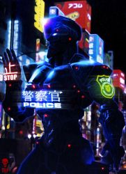 ADRIEL - Police Robot Enforcer by The-Last-Phantom