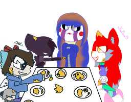 Food fight [Collab] by FireDraws43