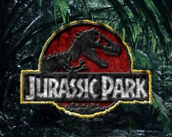 rocky jurassic park logo wallpaper classic colors by OniPunisher