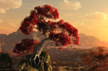 Blushing Bonsai by Chromattix