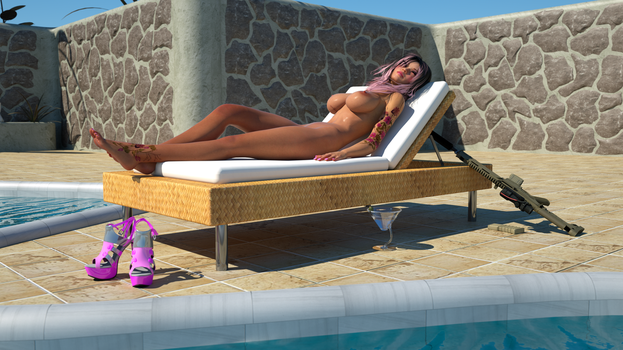Limei tanning by the Pool with ACR Octane by Gator3D