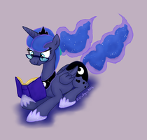That Luna With The Glasses by bibliodragon