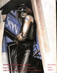 My GNR drawing-Axl Rose-color by beckpage