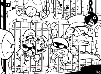 SMB the movie coloring book REMAKE 25-27 by FlintofMother3