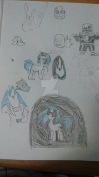 A Page Of My Sketches by Queen-Cerali