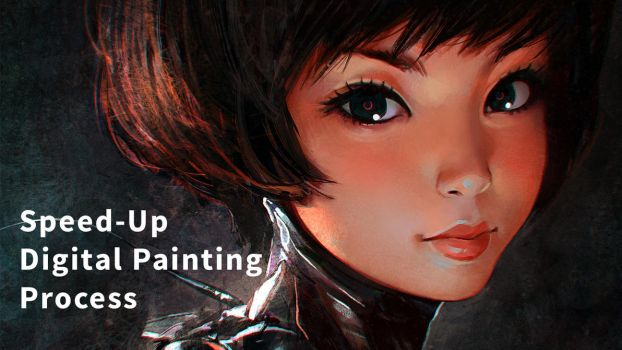 Speed-Up Digital Painting Process Video by Kuvshinov-Ilya