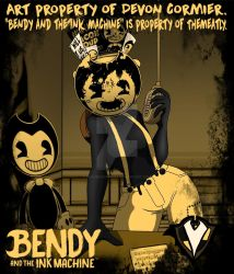 Bendy and the Ink Machine - Malice as Sammy by PlayboyVampire
