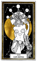 XVIII THE MOON [Tarot] by Chlodzilla