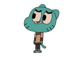 Gumball Watterson From The Amazing World of Gumbal by superawesomevectors