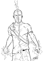 Cole from InFamous 2 Lineart by BouncieD