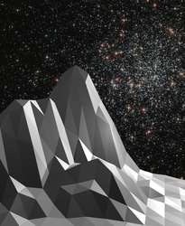 Mountains and Space: Polygonal Exploration 1 by RoentgenDevice