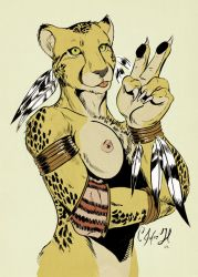 Peace cheetah by Crisjofreart