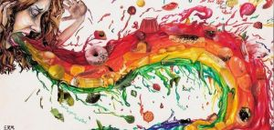 Bulimic rainbow by insignificantartist