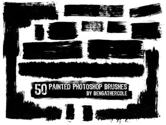Photoshop 'Painted' Brushes by BenGathercole