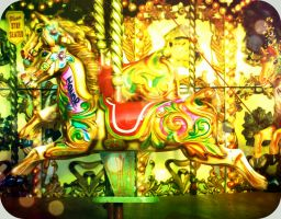 carousel horse by multicolourpirate