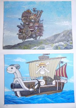 Howls movign castle and one piece by Stalaxy