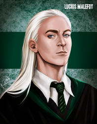 Harry Potter - Younger Lucius Malfoy by K-yon