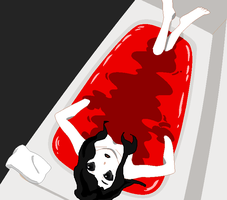 Jane the Killer bathed in red by codehostclub