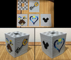 Kingdom Hearts tissue box cover by JBcrochetwizard