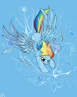 Rainbow Crash by dSana