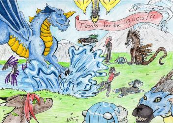 10,000 Pageviews by dragon25313