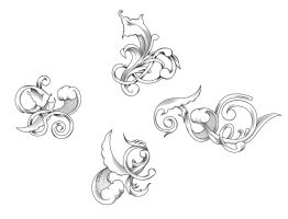 engraved floral motifs by T3hSpoon