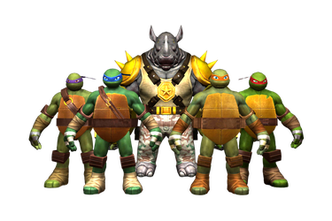 TMNT-OL AND 2012 Characters by GR-85